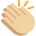 Clapping Hands: Medium-Light Skin Tone on Twitter Twemoji 2.3