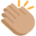 Clapping Hands: Medium Skin Tone on Twitter Twemoji 2.3