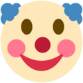 Clown Face on Twitter Twemoji 2.3