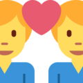 Couple With Heart: Man, Man on Twitter Twemoji 2.3