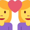 Couple With Heart: Woman, Woman on Twitter Twemoji 2.3