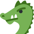 Dragon Face on Twitter Twemoji 2.3