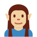 Elf: Medium-Light Skin Tone on Twitter Twemoji 2.3