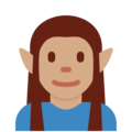 Elf: Medium Skin Tone on Twitter Twemoji 2.3
