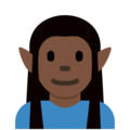 Elf: Dark Skin Tone on Twitter Twemoji 2.3