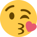 Face Blowing a Kiss on Twitter Twemoji 2.3
