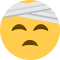 Face With Head-Bandage on Twitter Twemoji 2.3