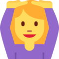Person Gesturing OK on Twitter Twemoji 2.3
