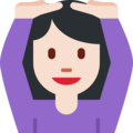 Person Gesturing OK: Light Skin Tone on Twitter Twemoji 2.3