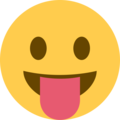 Face With Stuck-Out Tongue on Twitter Twemoji 2.3