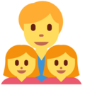 Family: Man, Girl, Girl on Twitter Twemoji 2.3