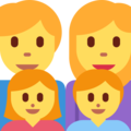 Family: Man, Woman, Girl, Boy on Twitter Twemoji 2.3