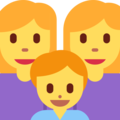 Family: Woman, Woman, Boy on Twitter Twemoji 2.3