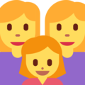 Family: Woman, Woman, Girl on Twitter Twemoji 2.3