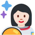 Woman Astronaut: Light Skin Tone on Twitter Twemoji 2.3