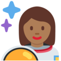 Woman Astronaut: Medium-Dark Skin Tone on Twitter Twemoji 2.3