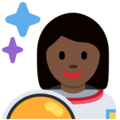 Woman Astronaut: Dark Skin Tone on Twitter Twemoji 2.3