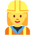 Woman Construction Worker on Twitter Twemoji 2.3