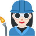 Woman Factory Worker: Light Skin Tone on Twitter Twemoji 2.3