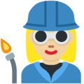 Woman Factory Worker: Medium-Light Skin Tone on Twitter Twemoji 2.3