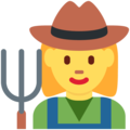 Woman Farmer on Twitter Twemoji 2.3
