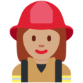 Woman Firefighter: Medium Skin Tone on Twitter Twemoji 2.3