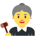 Woman Judge on Twitter Twemoji 2.3