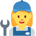 Woman Mechanic on Twitter Twemoji 2.3