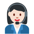 Woman Office Worker: Light Skin Tone on Twitter Twemoji 2.3