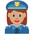 Woman Police Officer: Medium Skin Tone on Twitter Twemoji 2.3