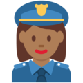 Woman Police Officer: Medium-Dark Skin Tone on Twitter Twemoji 2.3