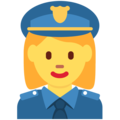 Woman Police Officer on Twitter Twemoji 2.3