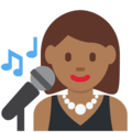 Woman Singer: Medium-Dark Skin Tone on Twitter Twemoji 2.3
