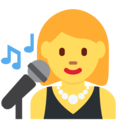 Woman Singer on Twitter Twemoji 2.3