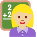 Woman Teacher: Medium-Light Skin Tone on Twitter Twemoji 2.3