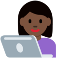 Woman Technologist: Dark Skin Tone on Twitter Twemoji 2.3
