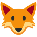 Fox Face on Twitter Twemoji 2.3