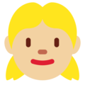 Girl: Medium-Light Skin Tone on Twitter Twemoji 2.3