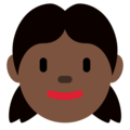 Girl: Dark Skin Tone on Twitter Twemoji 2.3