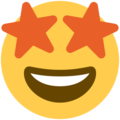 Star-Struck on Twitter Twemoji 2.3
