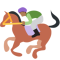 Horse Racing: Medium-Dark Skin Tone on Twitter Twemoji 2.3