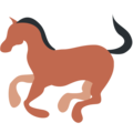 Horse on Twitter Twemoji 2.3