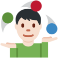 Person Juggling: Light Skin Tone on Twitter Twemoji 2.3