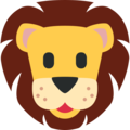 Lion Face on Twitter Twemoji 2.3