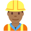Man Construction Worker: Medium-Dark Skin Tone on Twitter Twemoji 2.3