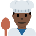 Man Cook: Dark Skin Tone on Twitter Twemoji 2.3