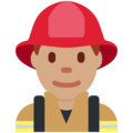 Man Firefighter: Medium Skin Tone on Twitter Twemoji 2.3