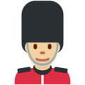 Man Guard: Medium-Light Skin Tone on Twitter Twemoji 2.3