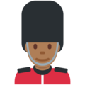 Man Guard: Medium-Dark Skin Tone on Twitter Twemoji 2.3