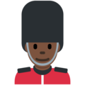 Man Guard: Dark Skin Tone on Twitter Twemoji 2.3